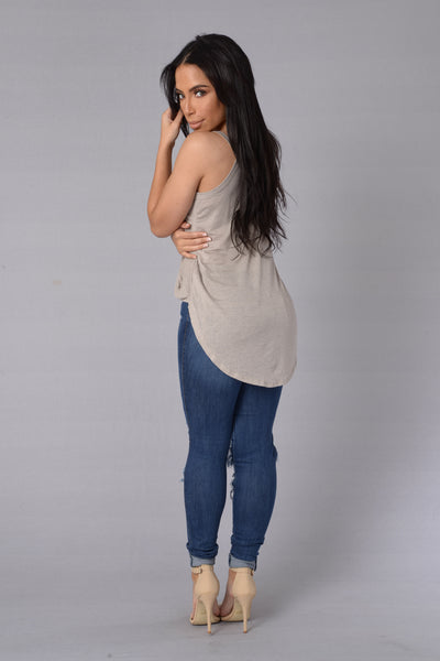 Blind Date Top - Taupe