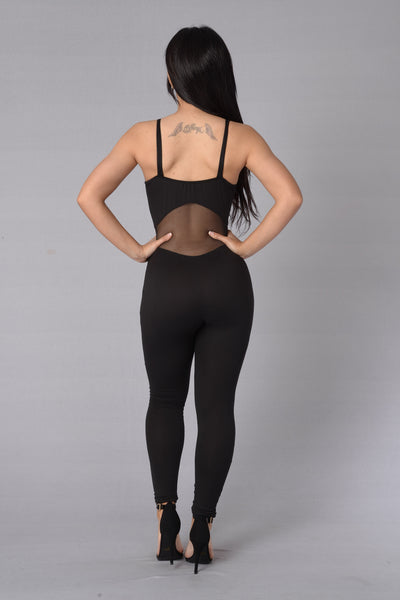 Switch Up Jumpsuit - Black