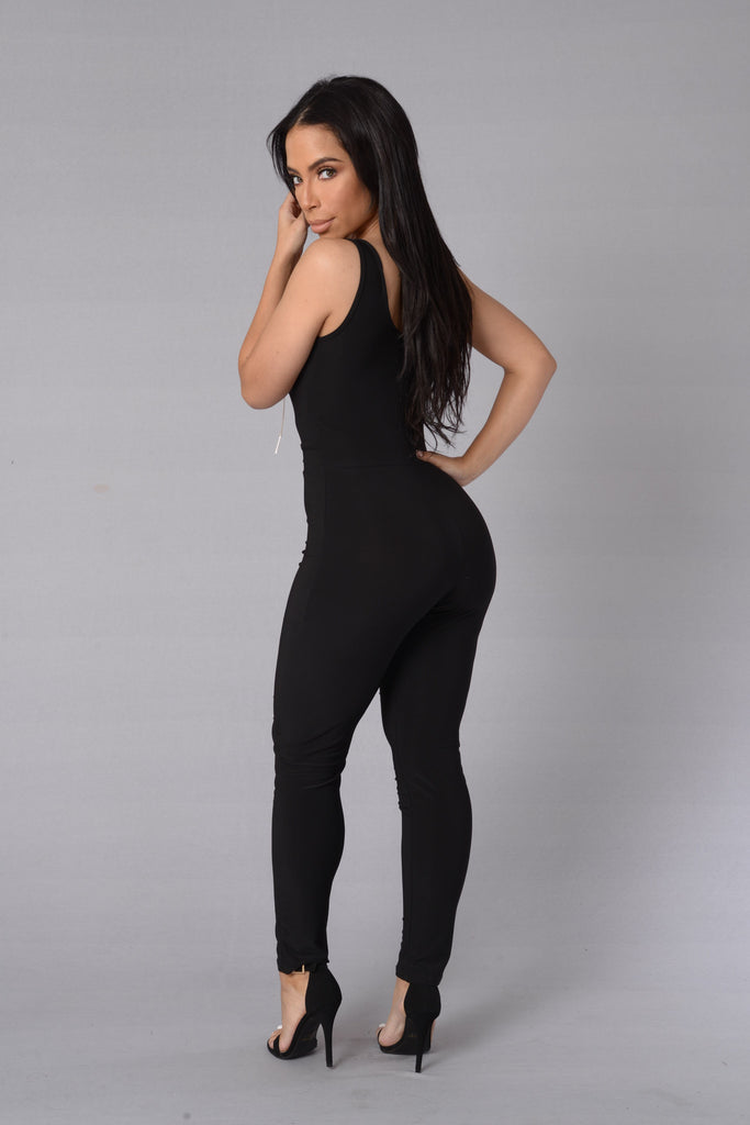 Chain Of Events Jumpsuit - Black
