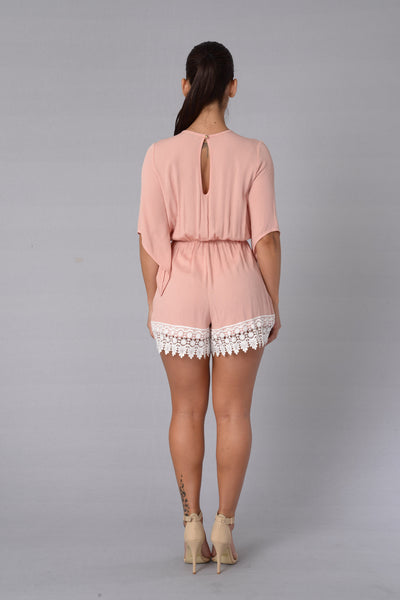 Daydreaming Romper - Blush