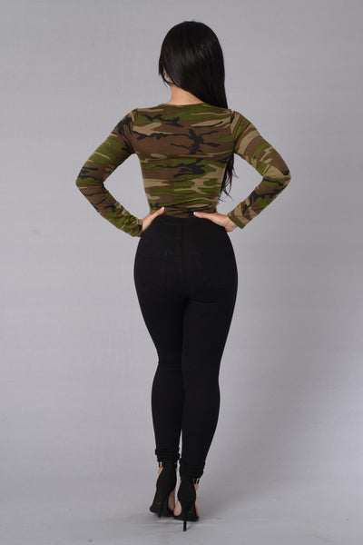 Reporting for Duty Bodysuit - Camouflage