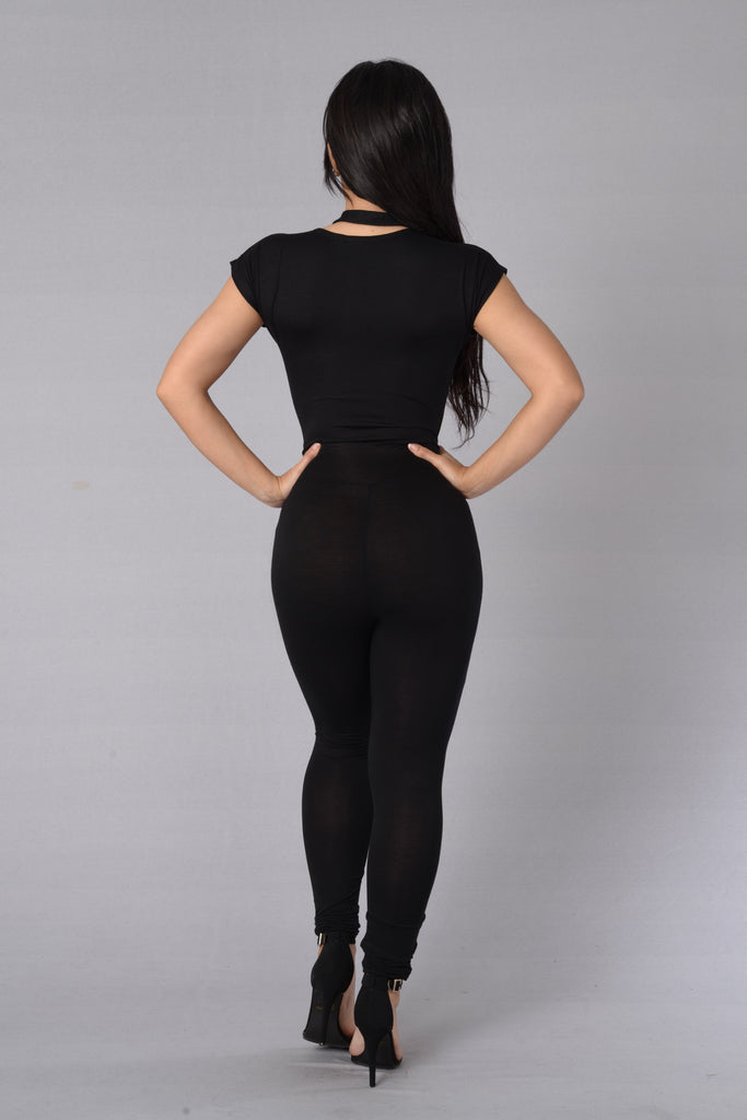 Call The Shots Jumpsuit - Black