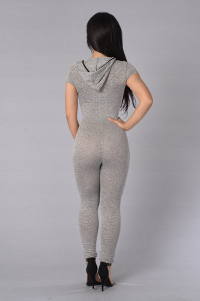 Fast Track Jumpsuit - Heather Grey