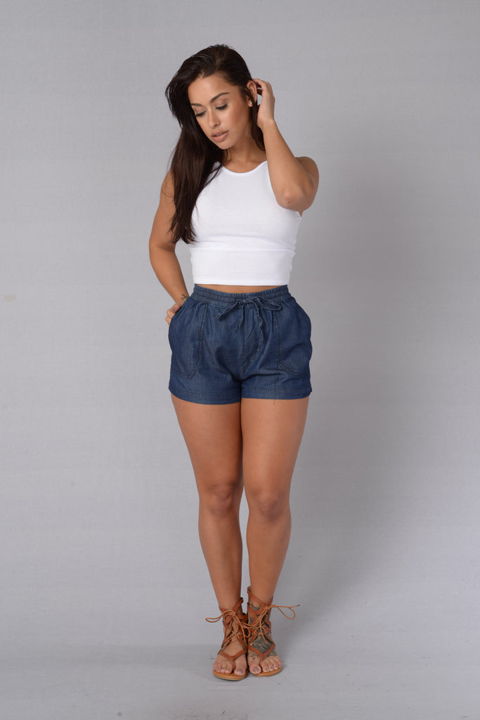 Easy Breezy Shorts - Indigo