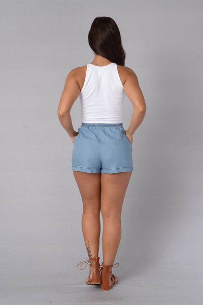 Easy Breezy Shorts - Light Indigo