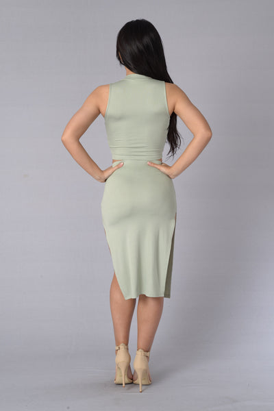 Make You Melt Skirt - Olive