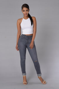 On The Edge Jeans - Grey