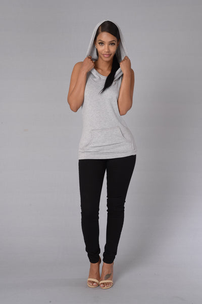 Run It Top - Heather Grey