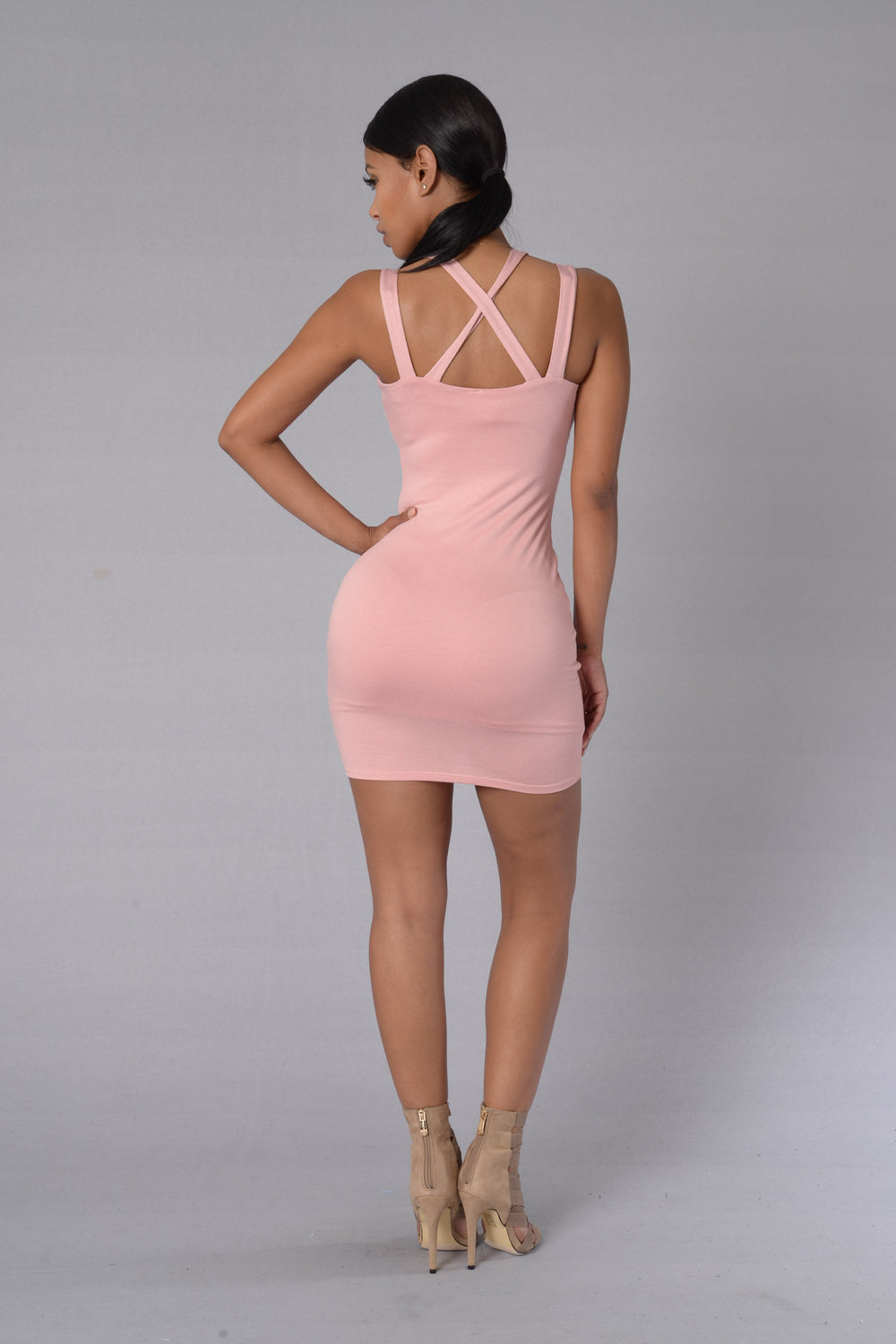 Broken Promises Dress - Dusty Pink