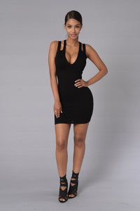 Broken Promises Dress - Black