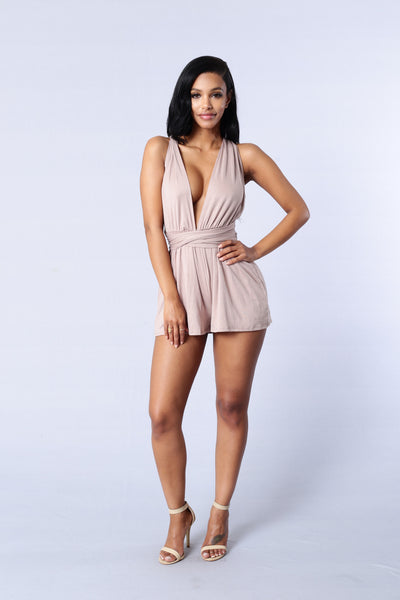 Thrill Romper - Cocoa