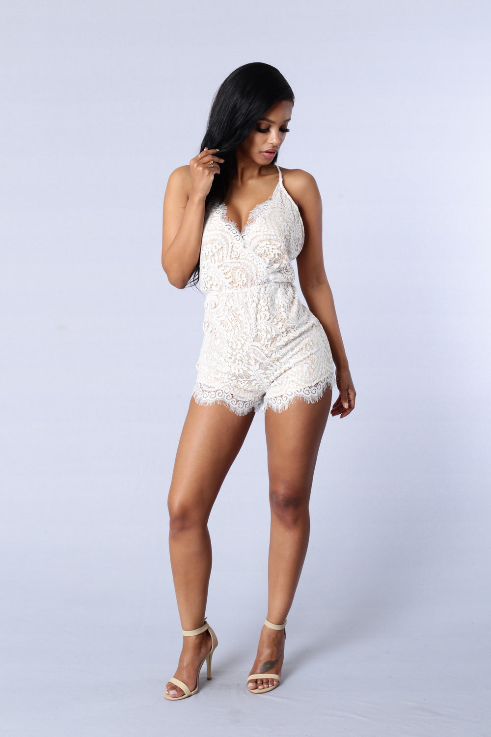 Romanticized Romper - White