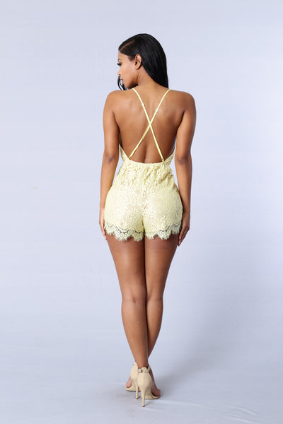 Romanticized Romper - Yellow