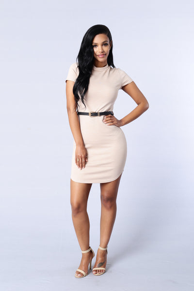 Hilary Dress - Taupe