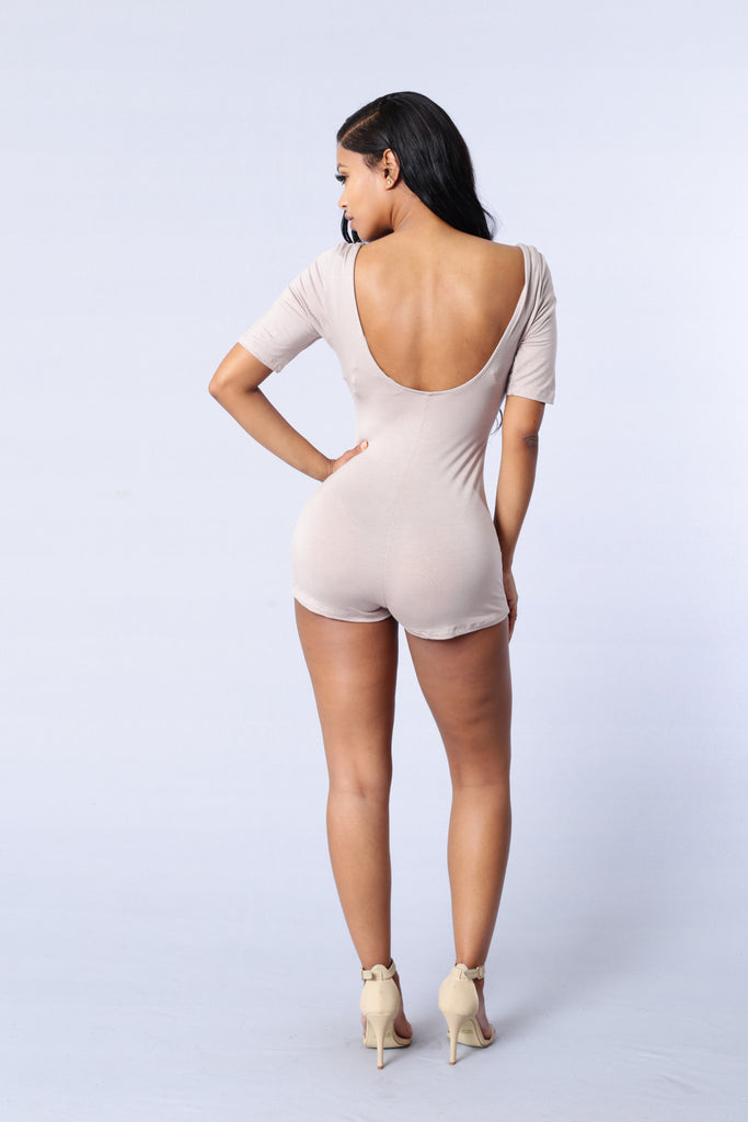 Night Watch Romper - Taupe