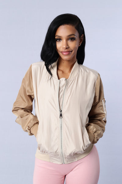 Rivalry Jacket - Cream/Khaki
