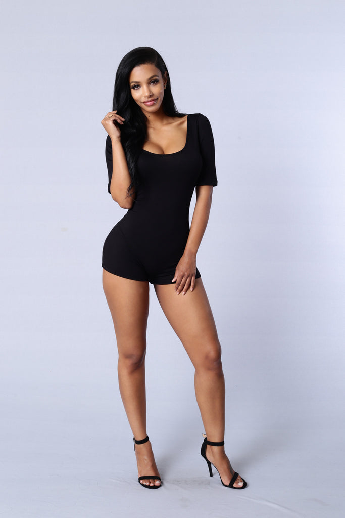 Night Watch Romper - Black