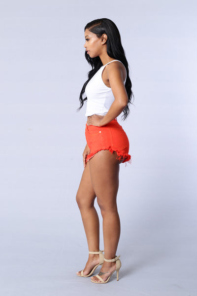 Primary Shorts - Orange Red