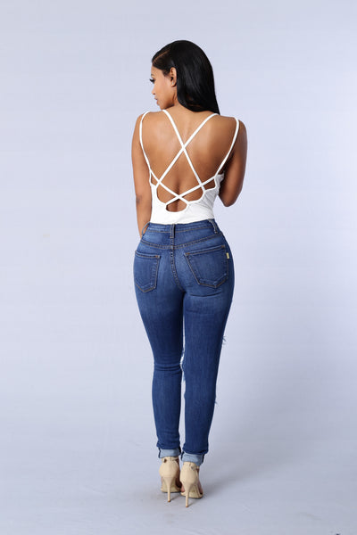 Crush Bodysuit - Ivory
