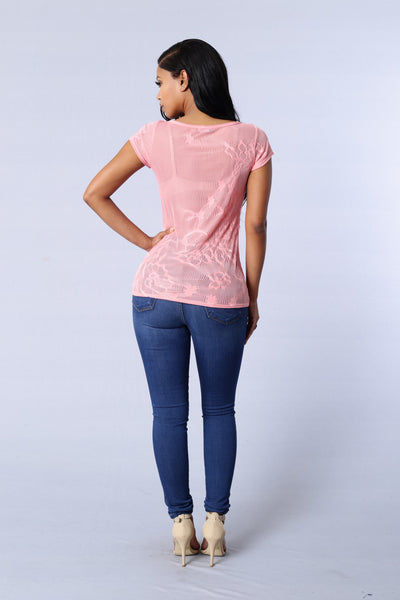 Easy Love Tee - Coral