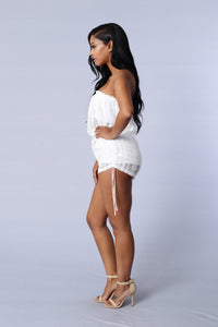Angel In Disguise Romper - White