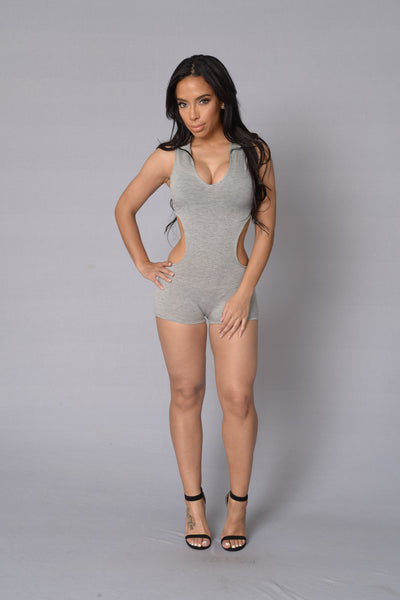 Can't Resist Romper - Heather Grey