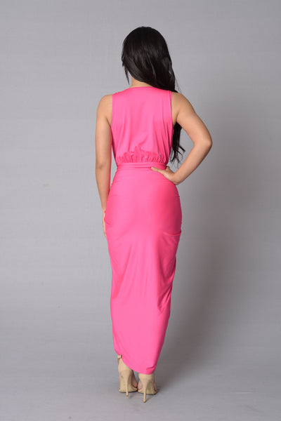 Aristocrat Dress - Hot Pink