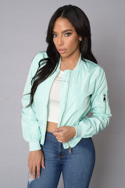 Picture Me Rollin' Jacket - Mint