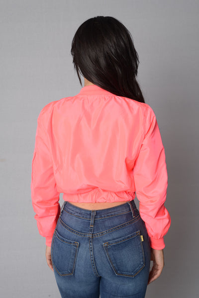 It Was All A Dream Jacket - Neon Pink