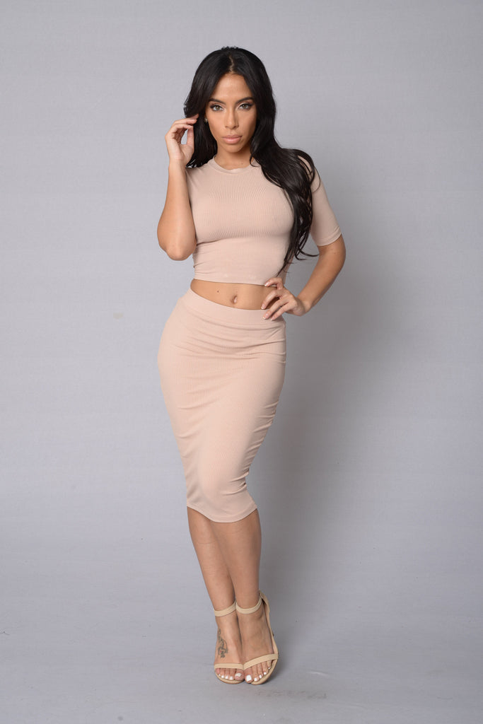 In Charge Skirt - Taupe