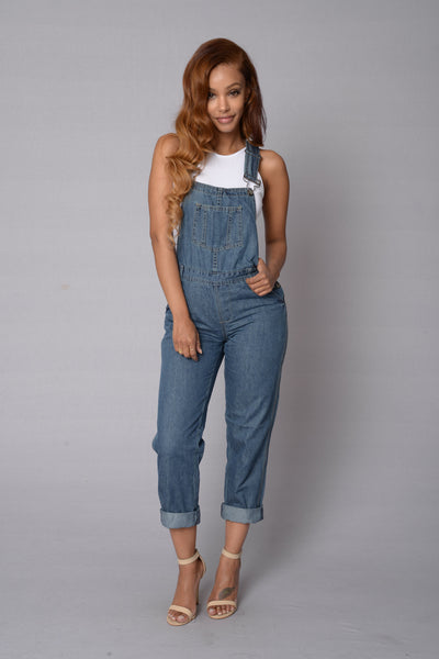 Rough Patch Overall - Medium Blue