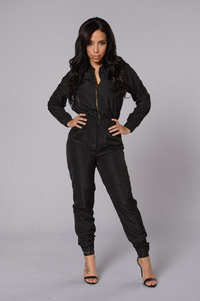 Top Gun Jumpsuit - Black