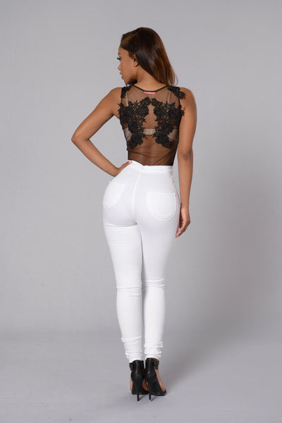 Sweet Revenge Bodysuit - Black