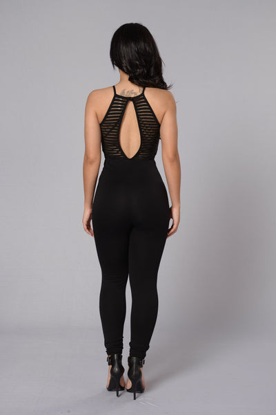 Shadow Play Jumpsuit - Black