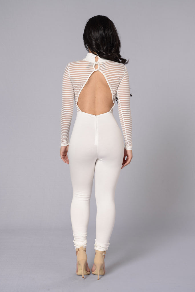 Long Shot Jumpsuit - White