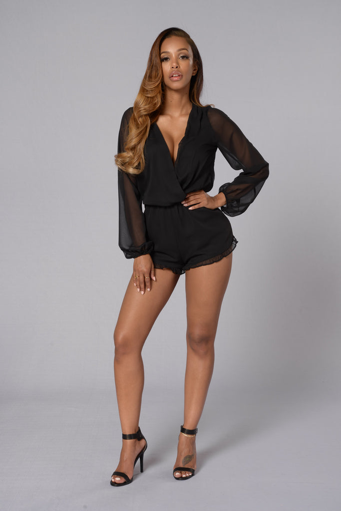 No One Else Romper - Black