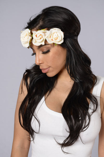 Rosey Headband - White