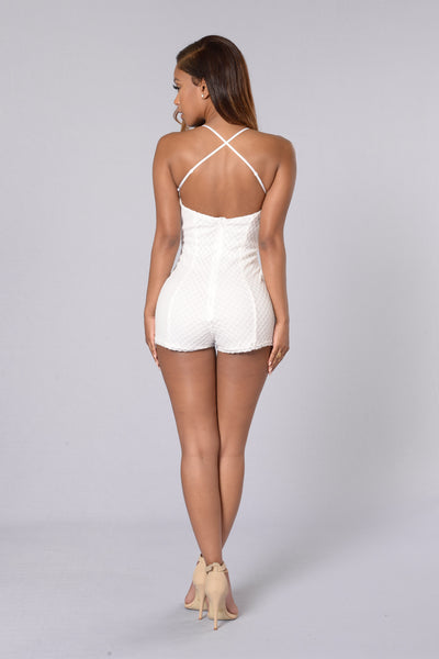 Woman You Love Romper - White