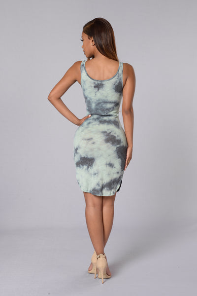 Love Me Do Dress - Sage/Grey