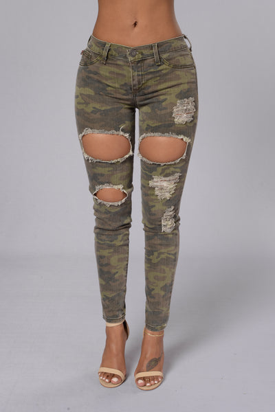Undercover Lover Jeans - Camo