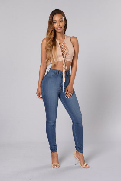I Want it All Crop Top - Taupe