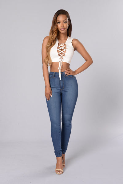 I Want it All Crop Top - Ivory