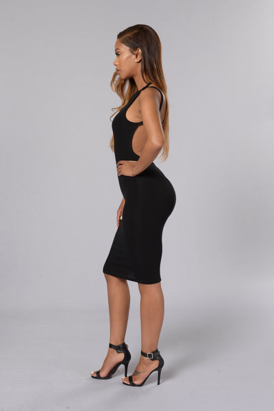 Party In The Back Dress - Black