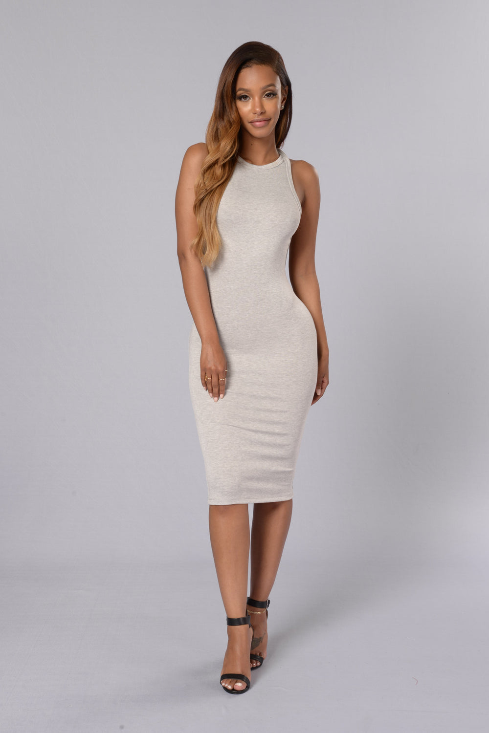 Party In The Back Dress - Heather Grey