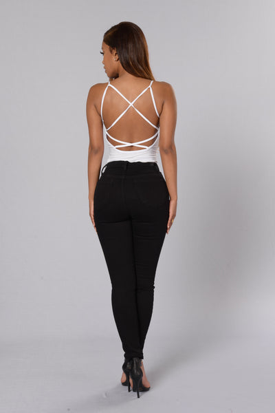 Night Show Bodysuit - White