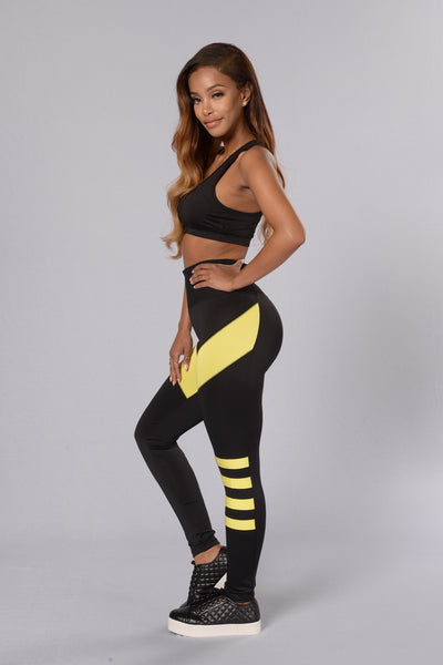 In Shape Legging - Black/Volt