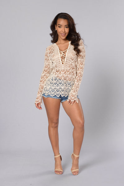 La Quinta Crochet Top - Natural