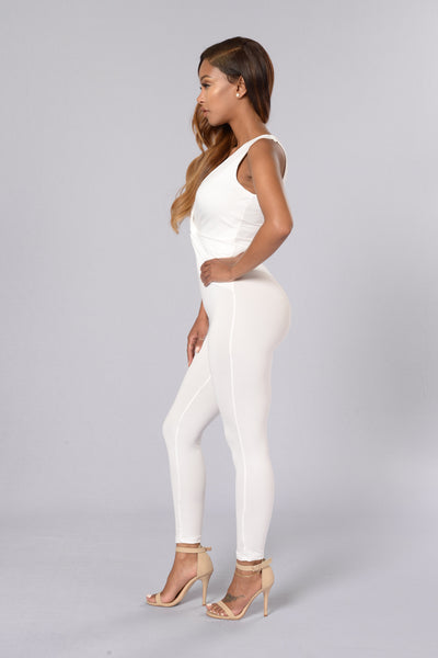 Down Low Jumpsuit - White