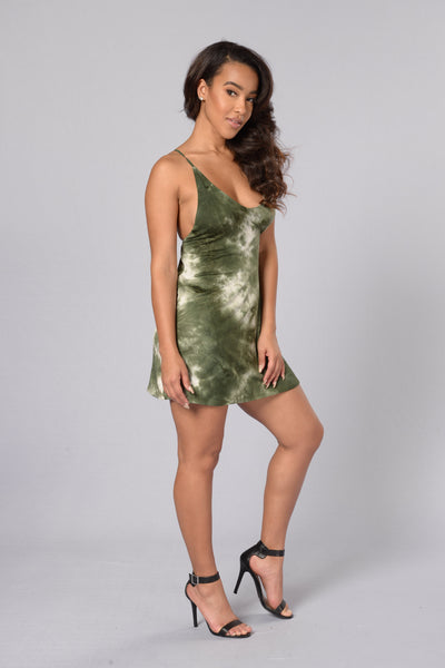 Desert Wanderer Dress - Olive