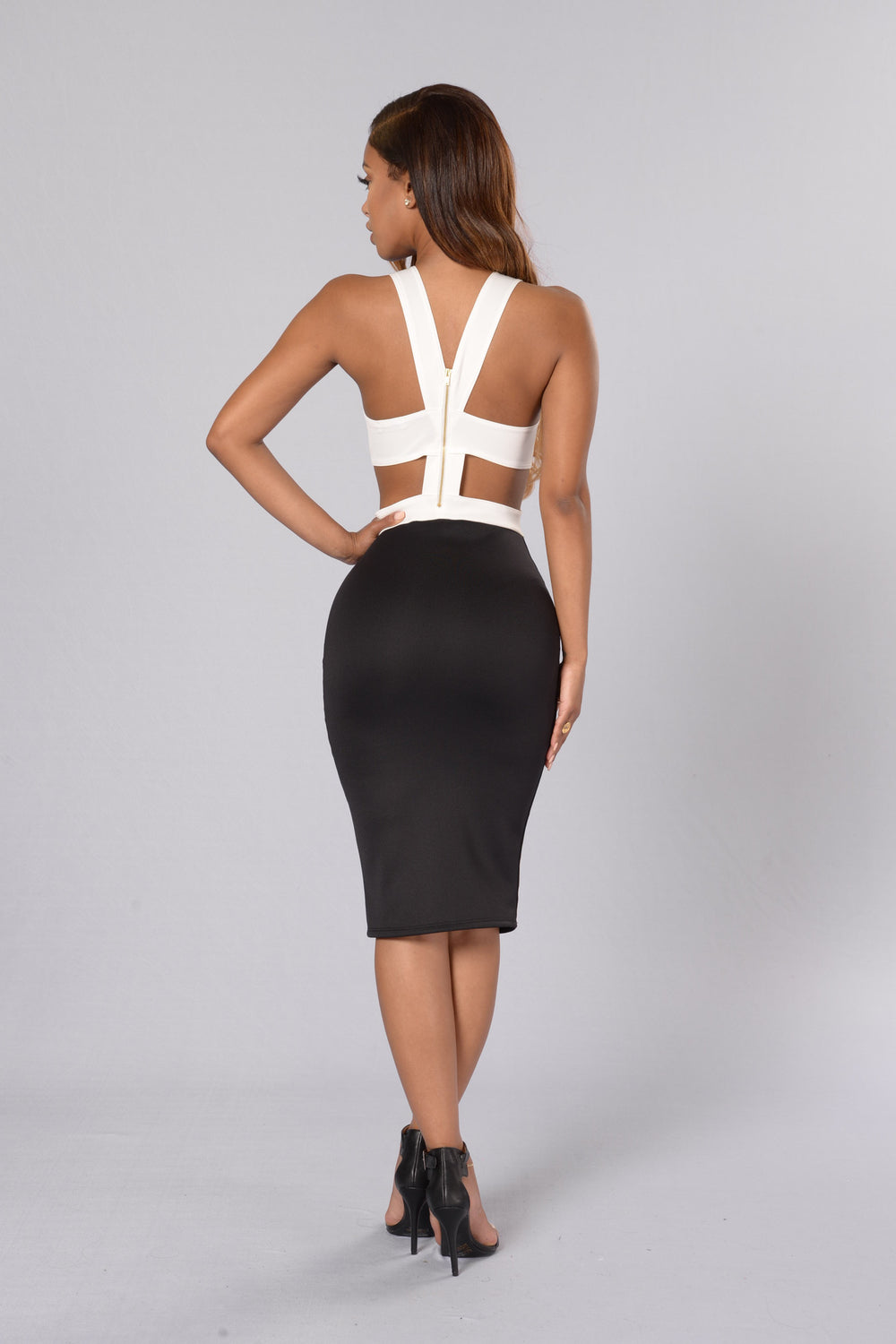 Jackpot Dress - Black/White